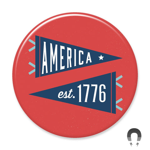 America 1776 Pennants Big Magnet