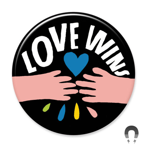 Love Wins Hands Big Magnet