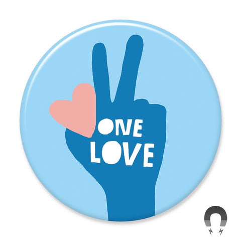 One Love Peace Hand Big Magnet