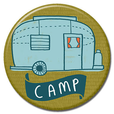 "Camper Caravan 1.25"" Button"