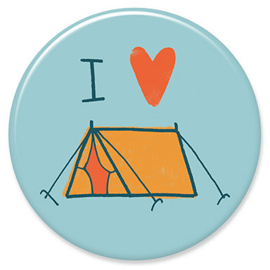 "I Love Camping 1.25"" Button"