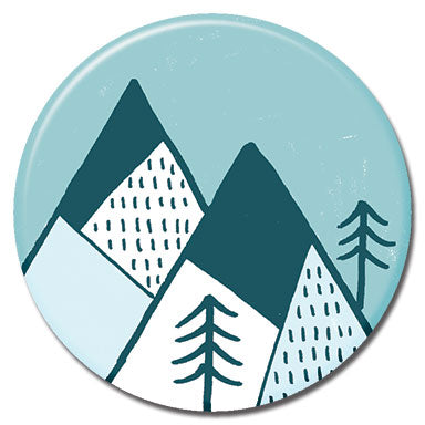 "Mountains Blue 1.25"" Button"