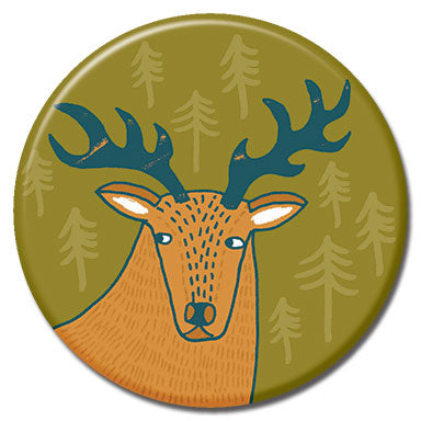 "Sneaky Stag 1.25"" Button"