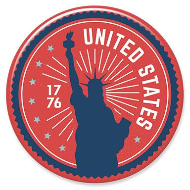 1776 Statue of Liberty Button by Hey Darlin'