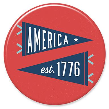 America 1776 Pendants Button by Hey Darlin'