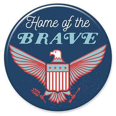 Brave Eagle Button by Hey Darlin'