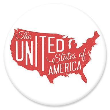 USA Map Button by Hey Darlin'