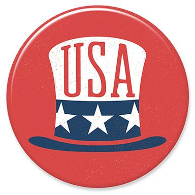 USA Hat Button by Hey Darlin'