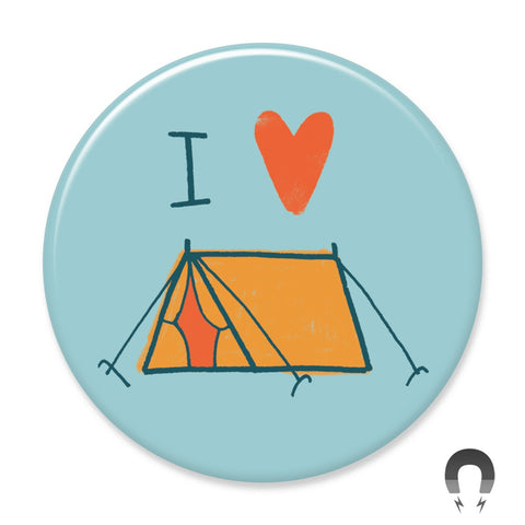 I Love Camping Big Magnet