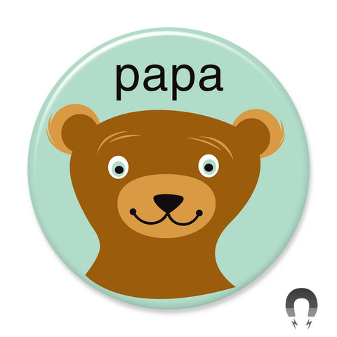 Papa Bear Big Magnet