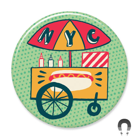 NYC Hot Dog Cart Magnet