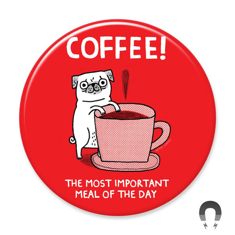 Coffee Pug Big Magnet