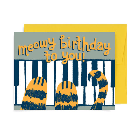 Meowy Birthday to You A2 Card