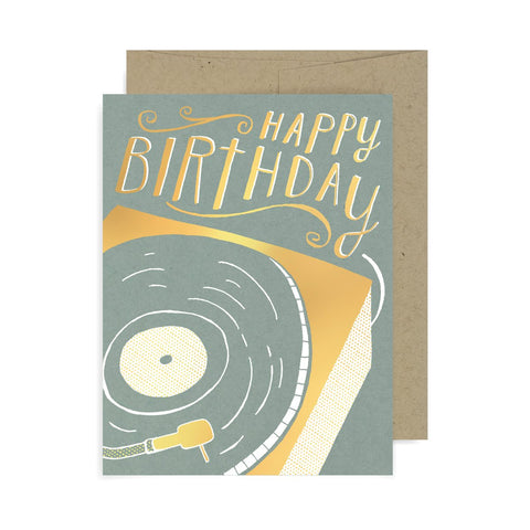 Happy Birthday Record A2 Card