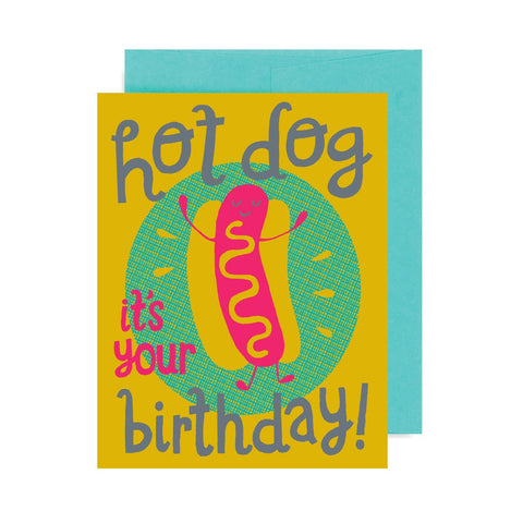 Hot Dog Birthday A2 Card