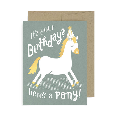Birthday Here's a Pony A2 Card
