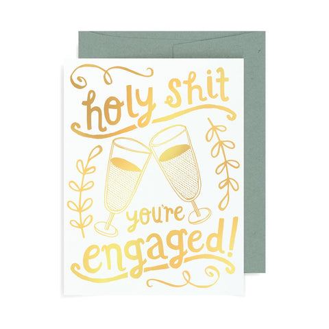 Holy Shit You're Engaged A2 Card