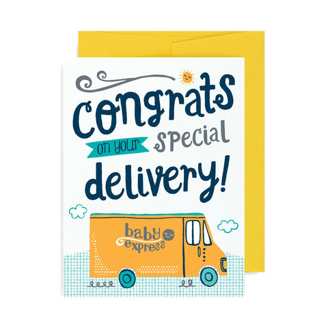 Congrats Special Delivery A2 Card