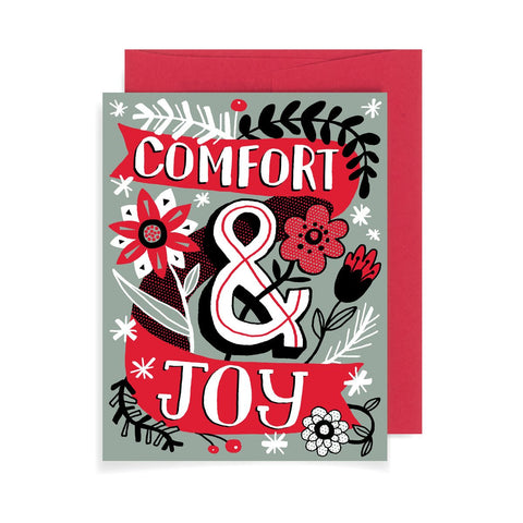 Comfort and Joy A2 Card