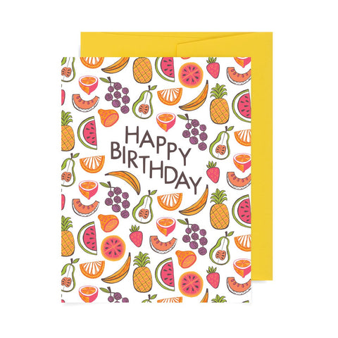 Happy Birthday Fruits A2 Card