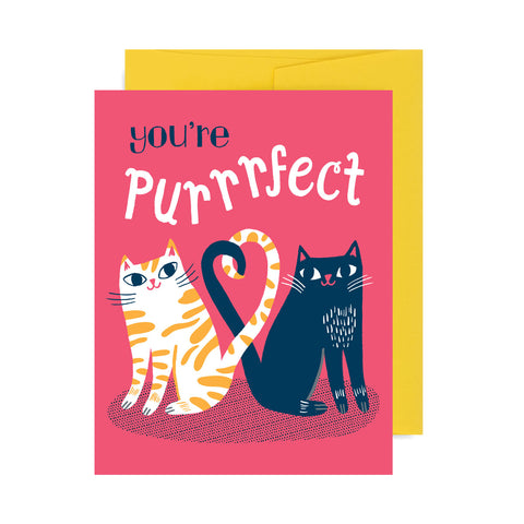 You're Purrrfect Cats A2 Greeting Card