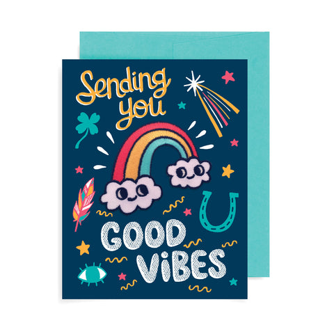 Good Vibes Patch Card