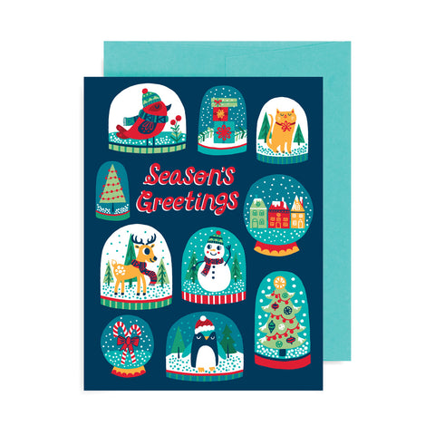 Season's Greetings Snow Globes