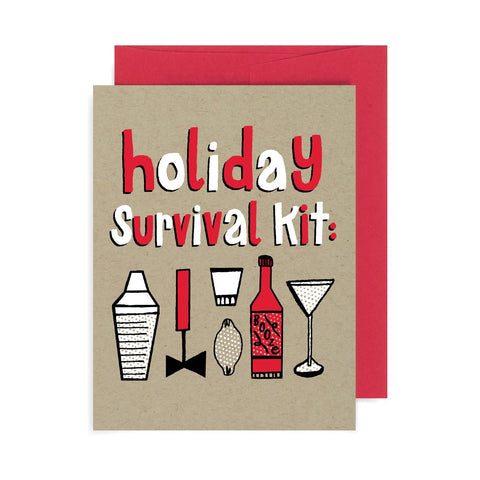 Holiday Survival Kit A2 Card