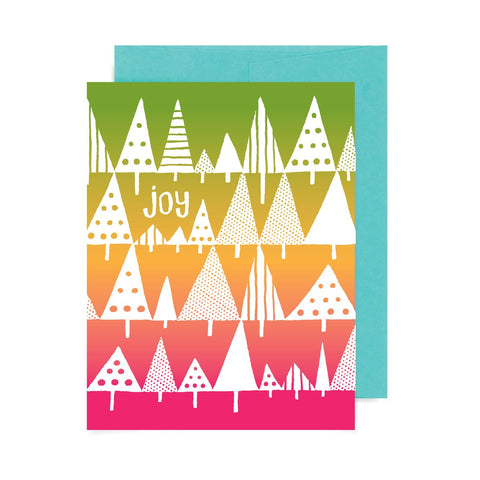 Joy Trees A2 Card