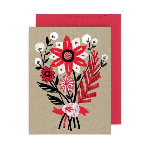 Holiday Floral Bouquet A2 Card