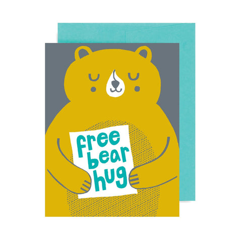 Free Bear Hug A2 Card