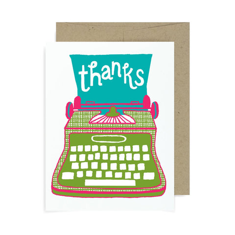 Thanks Typewriter A2 Card