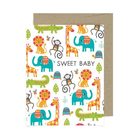 Sweet Baby Animals A2 Card