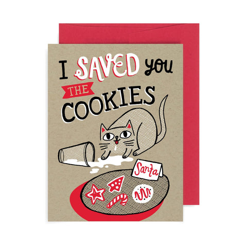 Saved You the Cookies Cat A2 Card