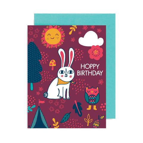 Hoppy Birthday Rabbit A2 Card