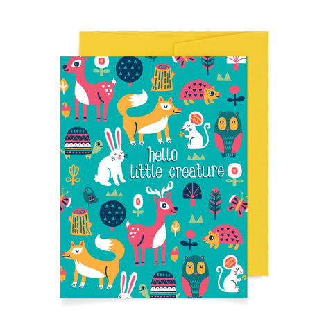 Hello Little Creature A2 Card
