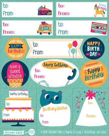 Birthday Gift Label Stickers