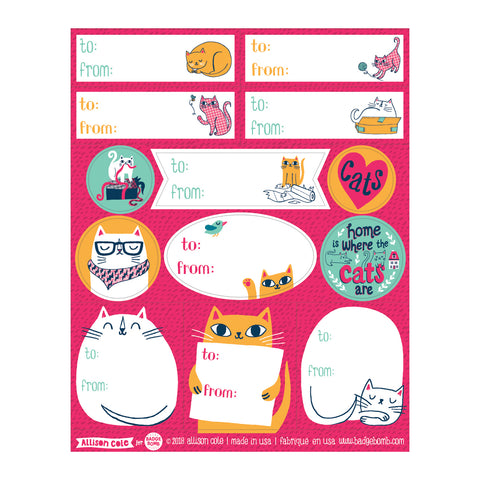 Cat Gift Label Stickers