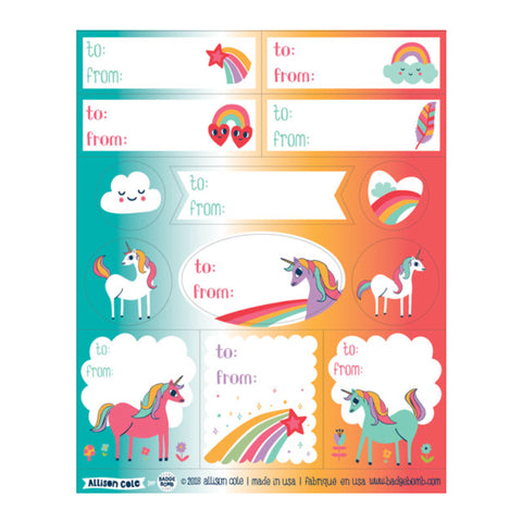 Unicorn Gift Label Stickers