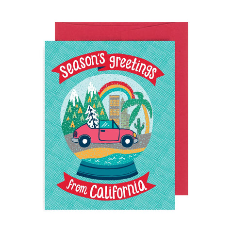 Snow Globe California A2 Card