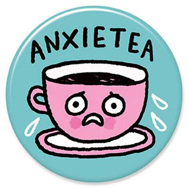 Anxietea Button by Gemma Correll