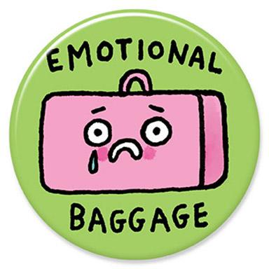 Emotional Baggage Button by Gemma Correll