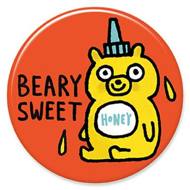 Beary Swee Button by Gemma Correll