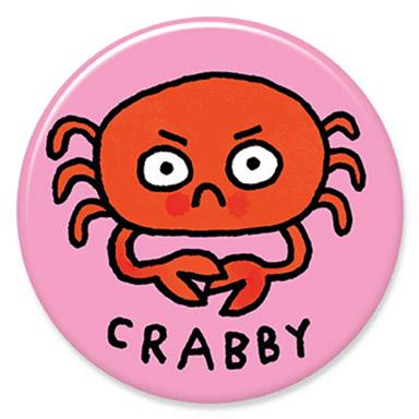 Crabby Button by Gemma Correll