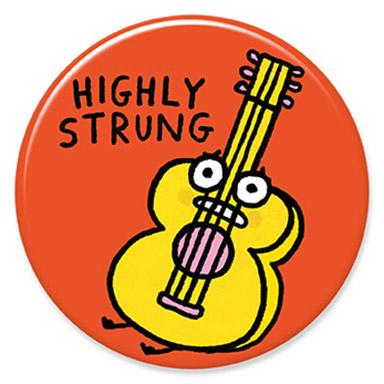 Highly Strung Button by Gemma Correll