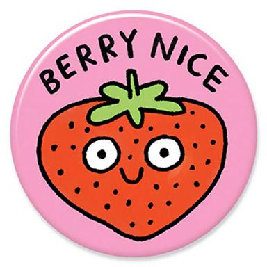 Berry Nice Button by Gemma Correll