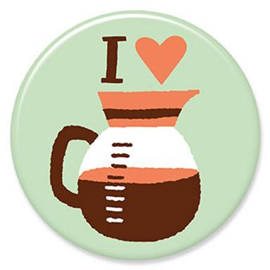 I Heart Coffee Button. Buttons by Allison Cole