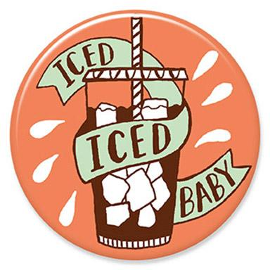 Iced Iced Baby Button. Buttons by Allison Cole