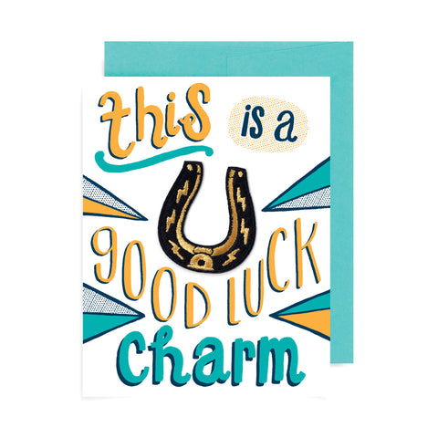 This is a Good Luck Charm Patch Card