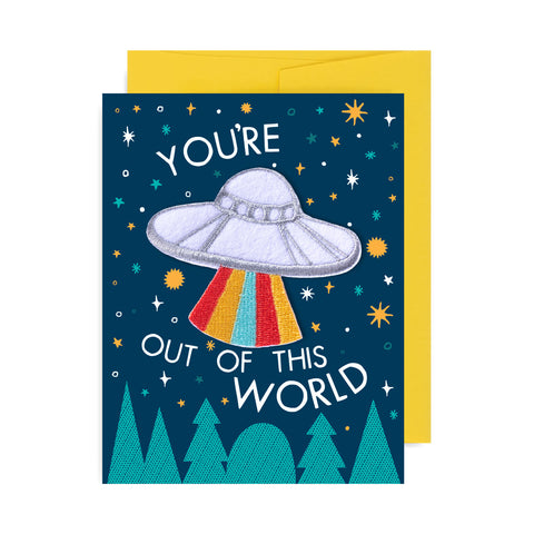 You're Out of This World Patch Card